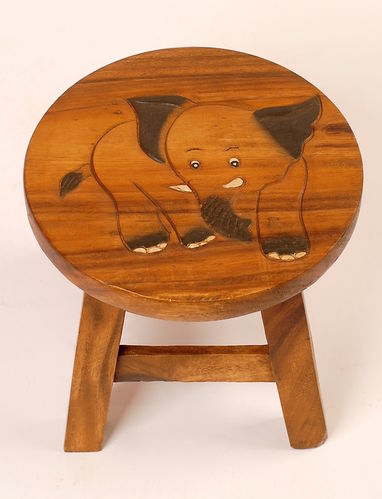 Kinder Hocker aus Holz, Elefant